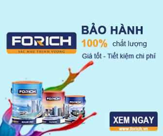 Tuyển đại lý sơn nước cao cấp Forich - Chiết khấu + Thưởng hấp dẫn - Kinhdoanh247.vn ads 2